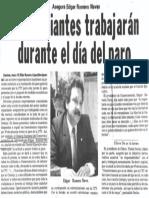 Edgard Romero Nava - Comerciantes Trabajaran Durante El Dia Del Paro - El Informador 16.05.1989