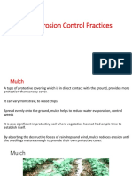 Erosion Control Practices