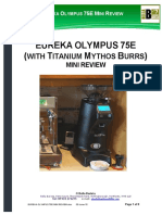 Eureka Olympus 75e Mini Coffee Grinder Review