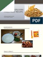 Chinese Peruvian Fried Rice Recipe