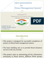 blood banks project ppt