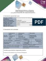 Guía Para El Desarrollo Del Componente Práctico - Formatos de Práctica