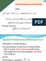 Pengantar Persamaan Diferensial (1)