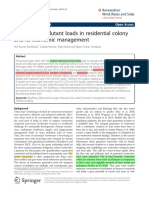 1) Grey Water Pollutant Loads in Residential Colony and Its Economic Management