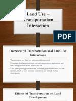 Land Use – Transportation Interaction