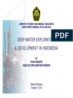 Deep Water Exploration & Development in Indonesia