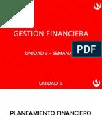 Unidad 3 - Planeamiento Financiero - Semana 10
