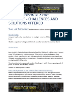 Case Study- Manufacturing Industry