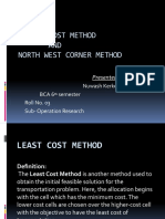Least Cost Method