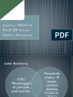Aplikasi MEWS di RSUP Dr Hasan Sadikin Bandung 2019.pptx