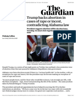 Trump backs abortion in cases of rape or incest, contradicting Alabama law | US news | The Guardian