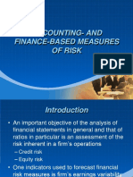 ACCOUNTING AND FINANCE-BASED MEASURES OF RISK