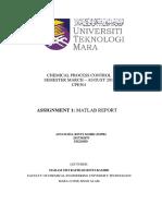 example matlab report