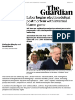 Labor begins election defeat postmortem with internal blame game | Australia news | The Guardian