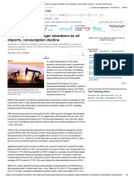 India May Witness Longer Slowdown as Oil Imports, Consumption Decline - The Economic Times