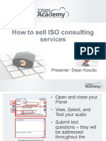 How to Sell ISO Consulting Services Webinar Presentation Deck