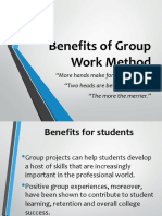 Benefits of Group Work Method