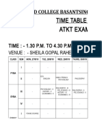 FY BA BSC BCom Atkt Time Table 18