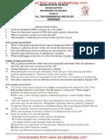 CBSE Class 9 Science Worksheet - Fundamental Unit of Life