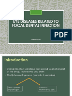 Eye Diseases Related to Focal Dental Infection