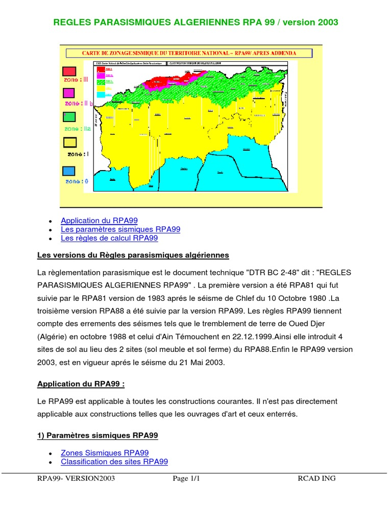 2003 PDF GRATUIT TÉLÉCHARGER RPA99/VERSION