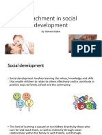 Attachment in Social Development