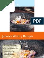 Recipes January Week 3