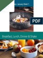Recipes January Week 1