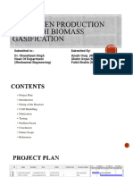 Hydrogen Production Through Biomass Gasification