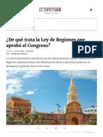 ¿de Qué Trata La Ley de Regiones Que Aprobó El Congreso_ _ ELESPECTADOR.com