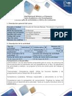 Guía de Actividades y Rubrica de Evaluacion Paso 5 Proyecto Final.