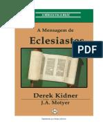 Derek Kidner - A Mensagem de Eclesiastes