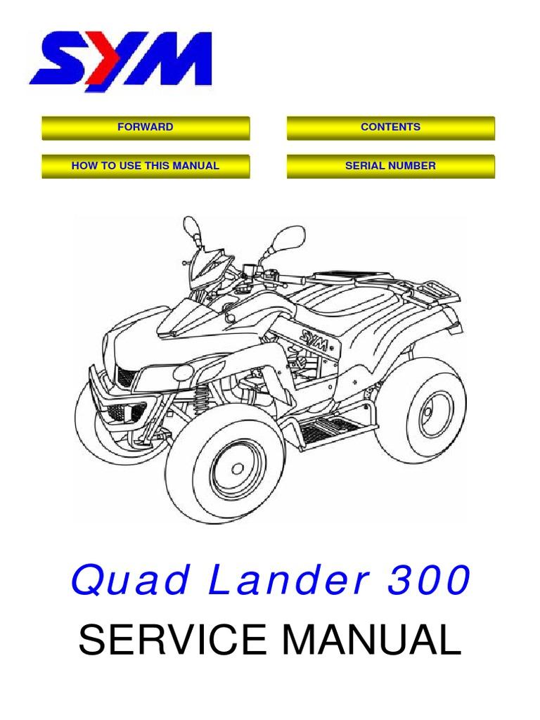 Sym Quadlander 300 Service Manual Pdf Carburetor Electrical Connector