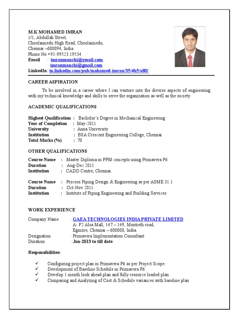 Printable Resume For Mechanical Engineer Business Process Management Risk Management Free 30 Day Trial Scribd