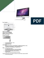 especificações iMacs