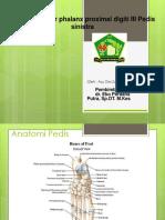 Ppt Closed Fraktur digiti III Pedis sinistra