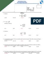 Examen Mensual de Tercero Unidad 1