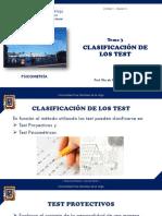 Clasificación de los test