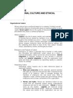 CH 9 Organizational Culture