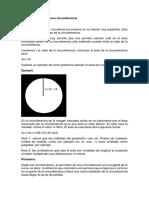 área y perímetro circunferencia