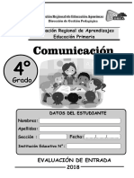 Prueba de entrada de Comunicacion - 4to grado