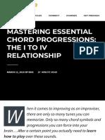 mastering major 2 5 1 progressions