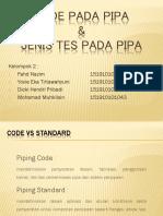 Kode Pada Pipa&Jenis Tes Pada Pipa