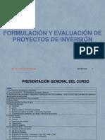 Curso de Proyectos de Inversión 2019