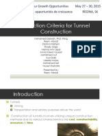 Final Selection Criteria Tunnel Cons Tra