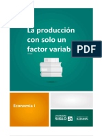 La Produccion Con Un Solo Factor Variable