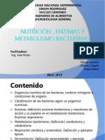 Nutrición, Enzimas y Metabolismo Bacteriano