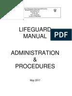 Lifeguard Manual Administration & Procedures