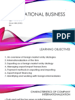 BS4 International Business Entry Modes