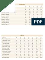 Tabelas de Medidas - Hermenegildo Zampar